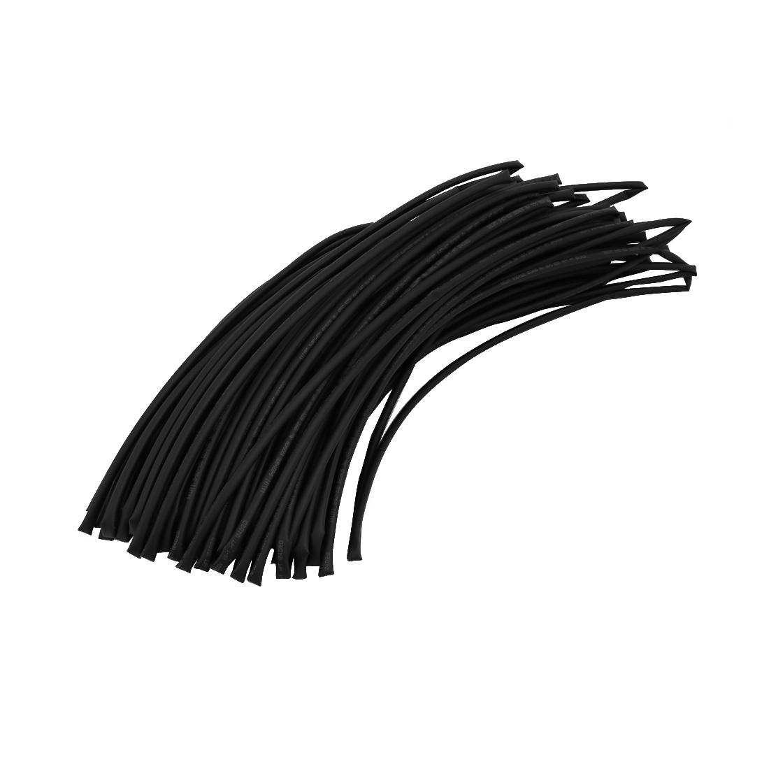 165Ft 0.16in Inner Dia Polyolefin Flame Retardant Tube Black for Wire Repairing