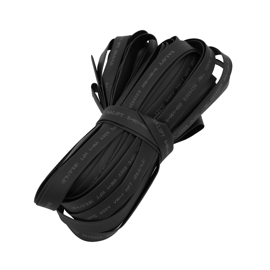 Polyolefin Heat Shrinkable Tube Wire Wrap Cable Sleeve 20 Meters Long 8mm Inner Dia Black