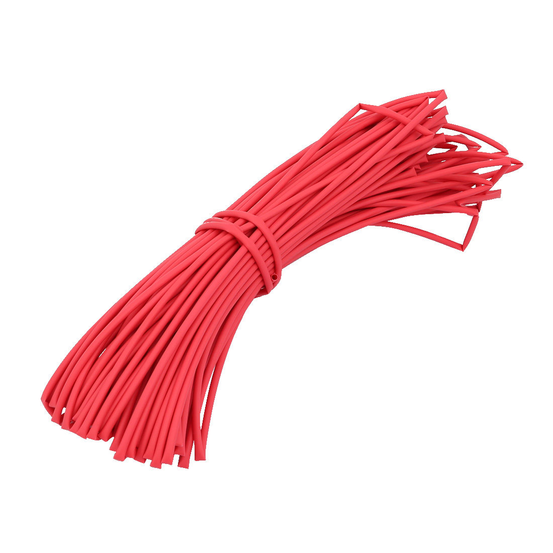 Polyolefin Heat Shrinkable Tube Wire Cable Sleeve 25M Length 2mm Inner Dia Red
