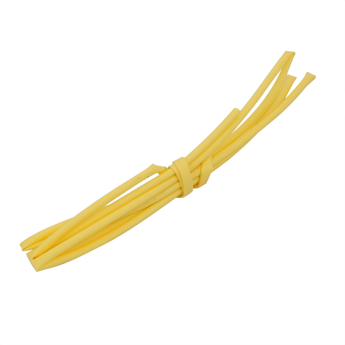 1M 0.06in Inner Dia Polyolefin Flame Retardant Tube Yellow for Wire Repairing