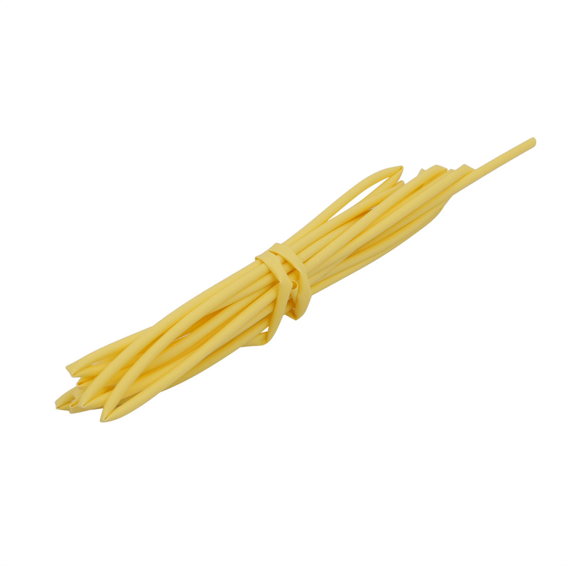 2M 0.06in Inner Dia Polyolefin Flame Retardant Tube Yellow for Wire Repairing