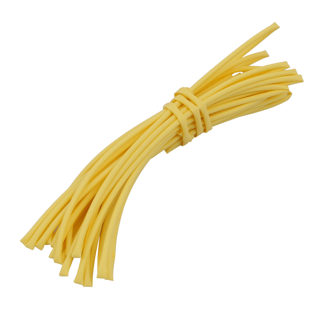 5M 0.06in Inner Dia Polyolefin Flame Retardant Tube Yellow for Wire Repairing