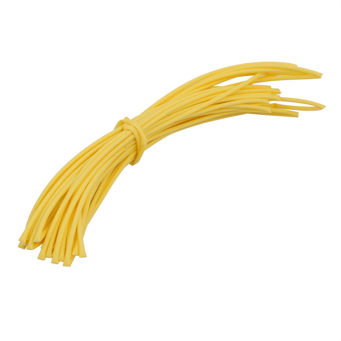 8M 0.06in Inner Dia Polyolefin Flame Retardant Tube Yellow for Wire Repairing