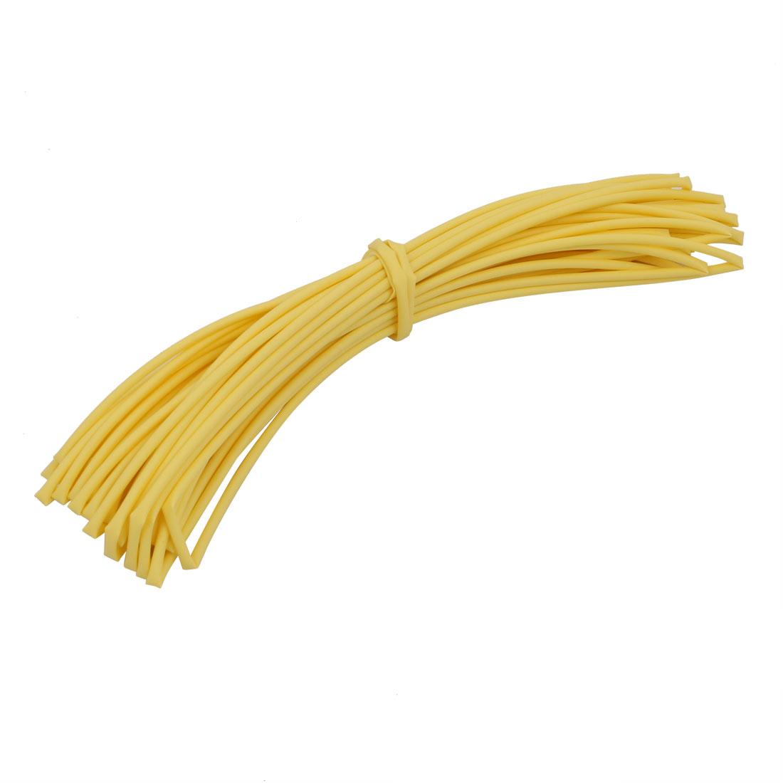 10M 0.06in Inner Dia Polyolefin Flame Retardant Tube Yellow for Wire Repairing