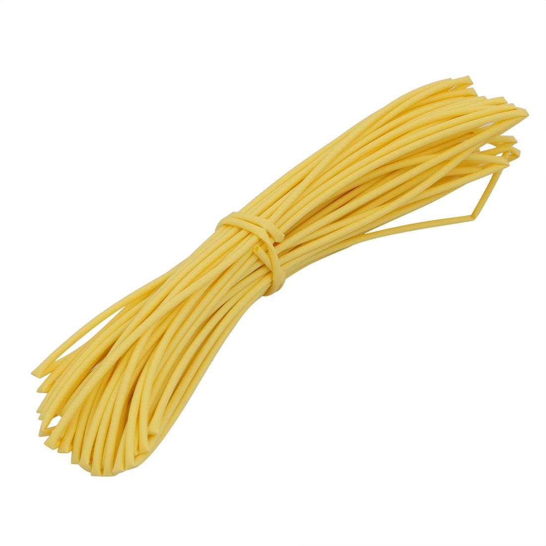15M 0.06in Inner Dia Polyolefin Flame Retardant Tube Yellow for Wire Repairing