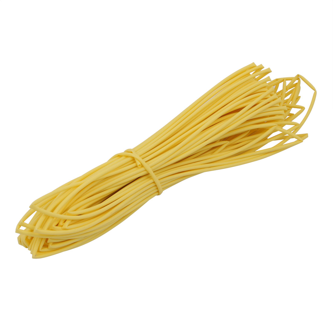 25M 0.06in Inner Dia Polyolefin Flame Retardant Tube Yellow for Wire Repairing