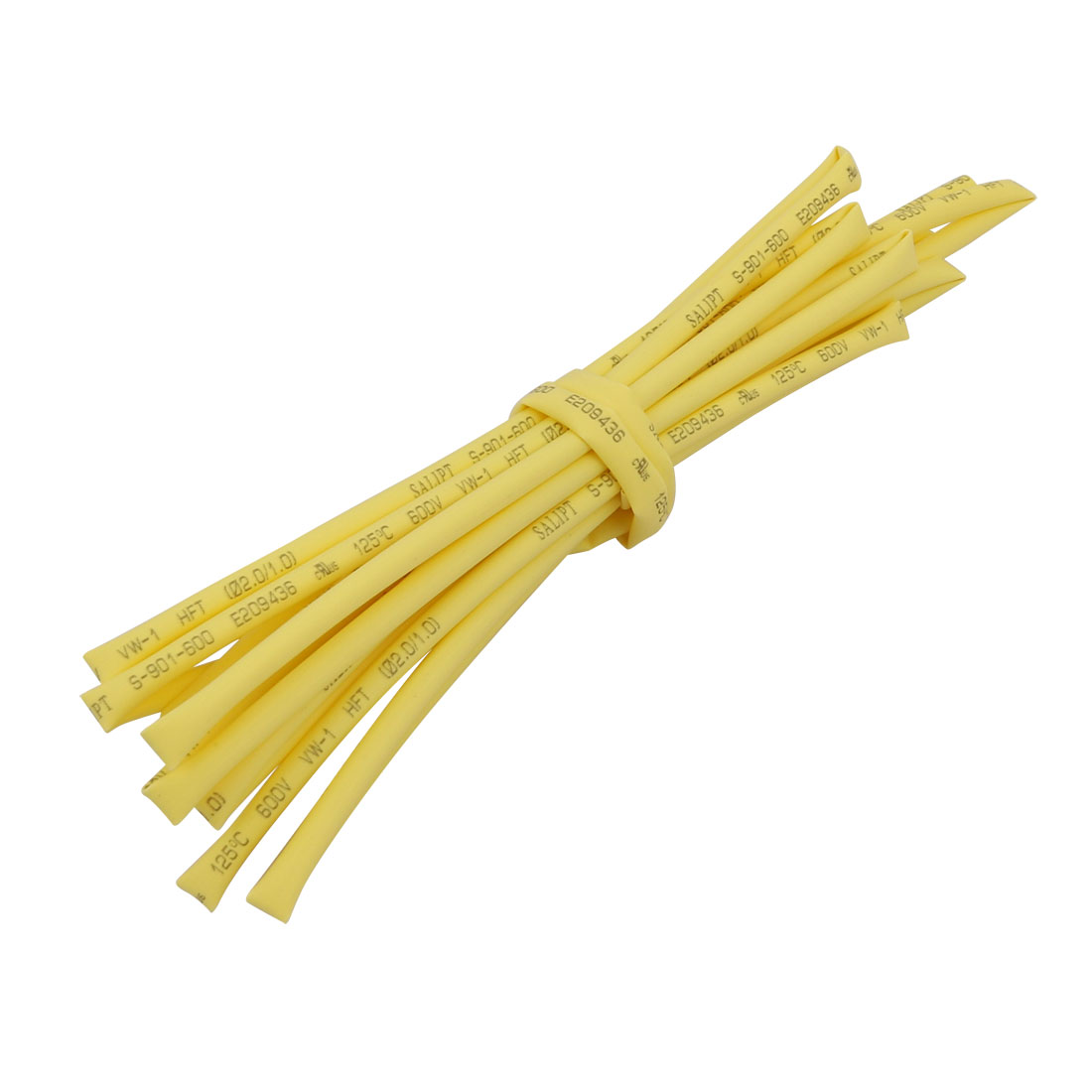 2M x 0.08in Inner Dia Polyolefin Flame Retardant Tube Yellow for Wire Repairing