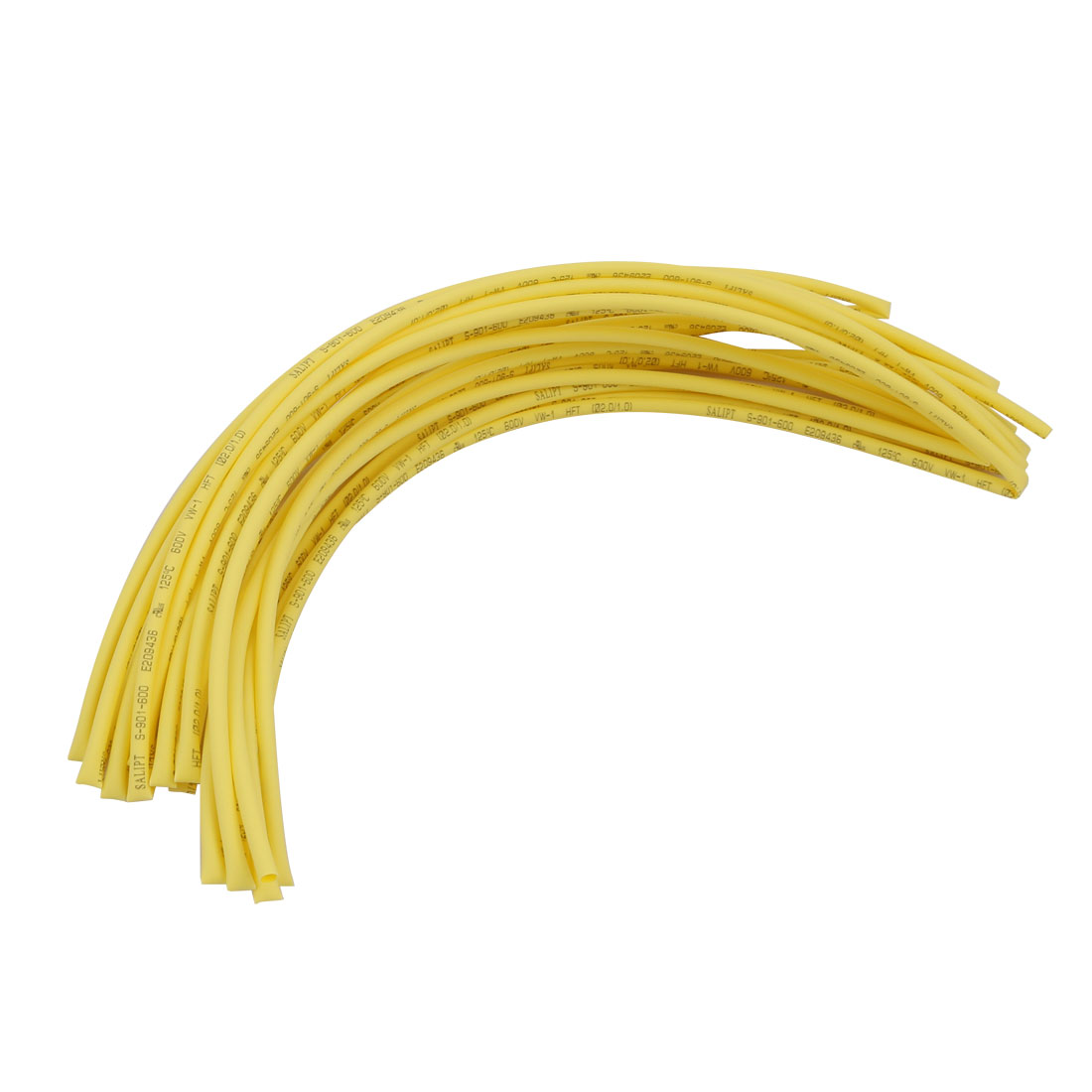 6M 0.08in Inner Dia Polyolefin Flame Retardant Tube Yellow for Wire Repairing
