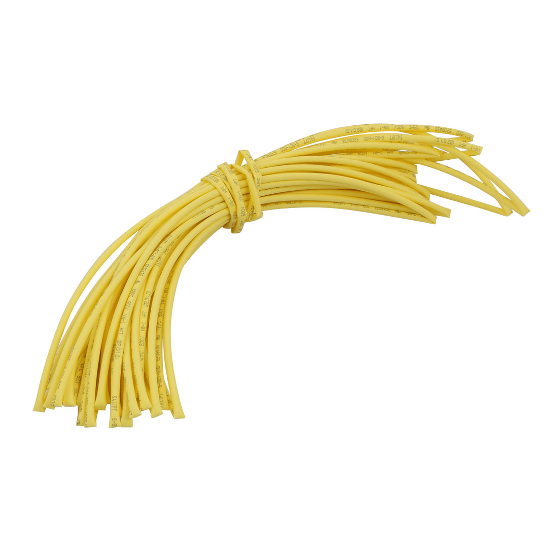 10M x 0.08in Inner Dia Polyolefin Flame Retardant Tube Yellow for Wire Repairing