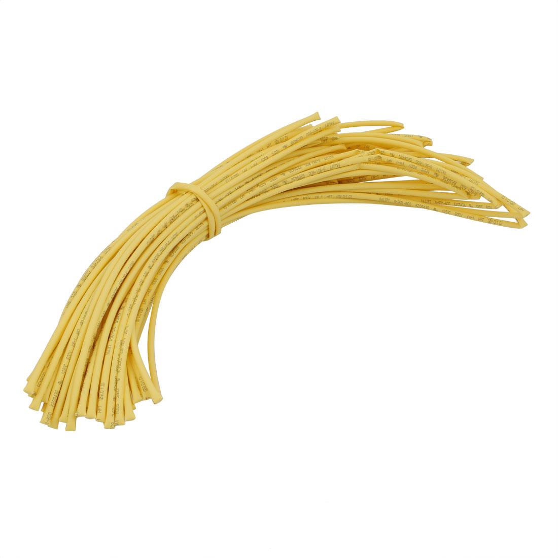 20M 0.08in Inner Dia Polyolefin Flame Retardant Tube Yellow for Wire Repairing