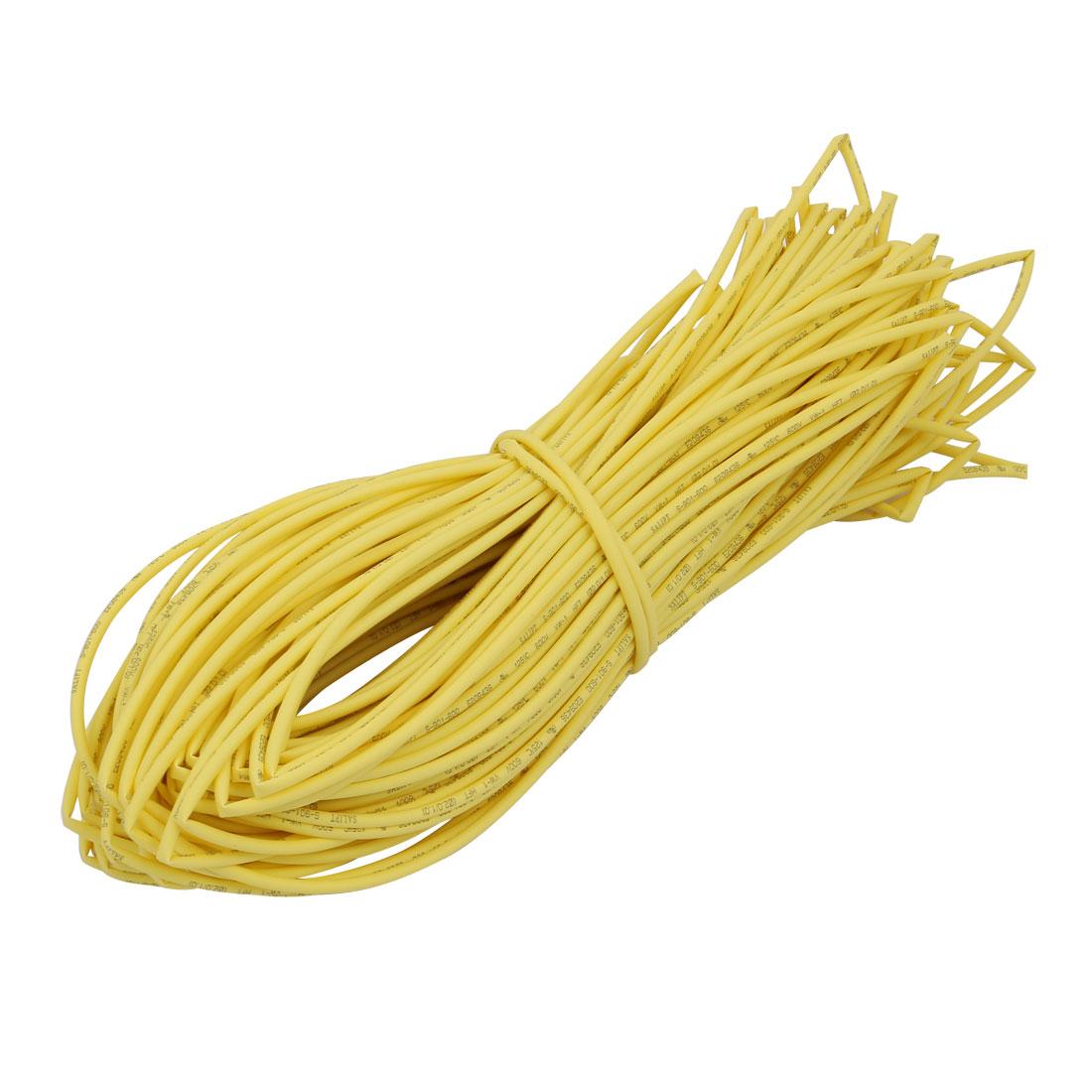 45M 0.08in Inner Dia Polyolefin Flame Retardant Tube Yellow for Wire Repairing
