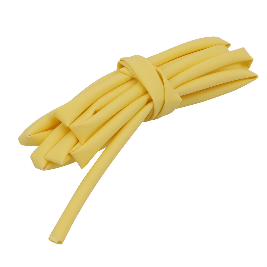 2M 0.2in Inner Dia Polyolefin Flame Retardant Tube Yellow for Wire Repairing