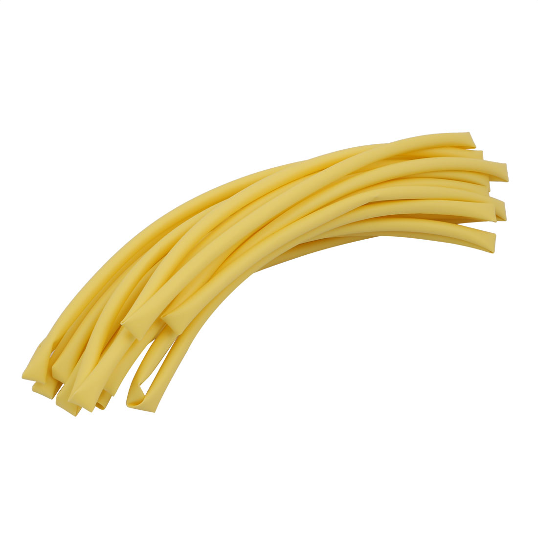 5M x 0.2in Inner Dia Polyolefin Flame Retardant Tube Yellow for Wire Repairing