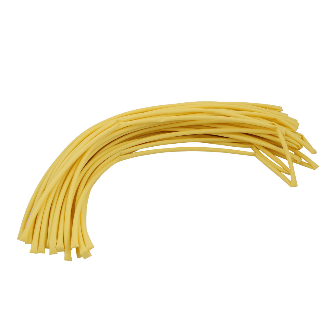 25M 0.2in Inner Dia Polyolefin Flame Retardant Tube Yellow for Wire Repairing
