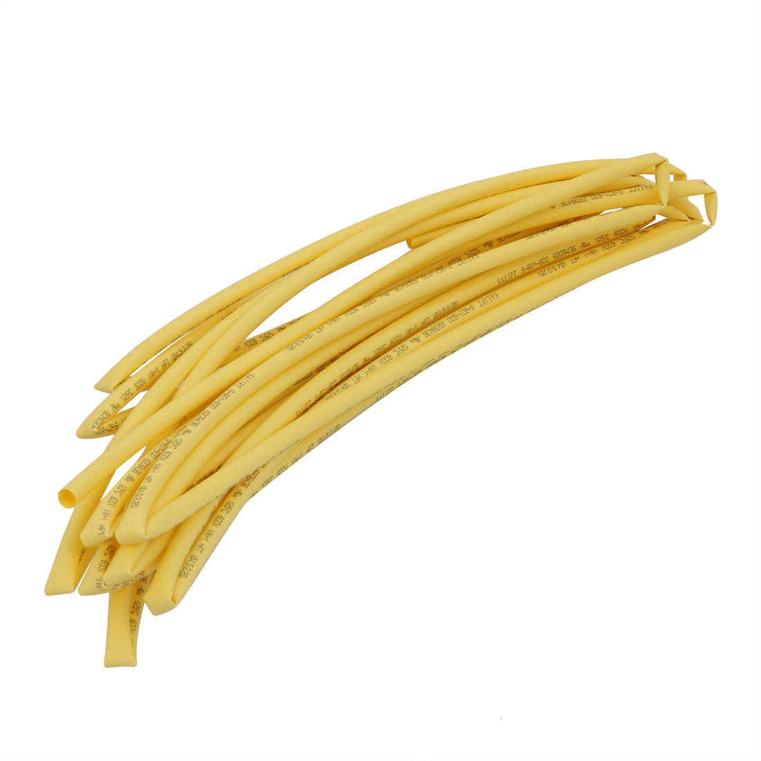 5M 0.18in Inner Dia Polyolefin Flame Retardant Tube Yellow for Wire Repairing