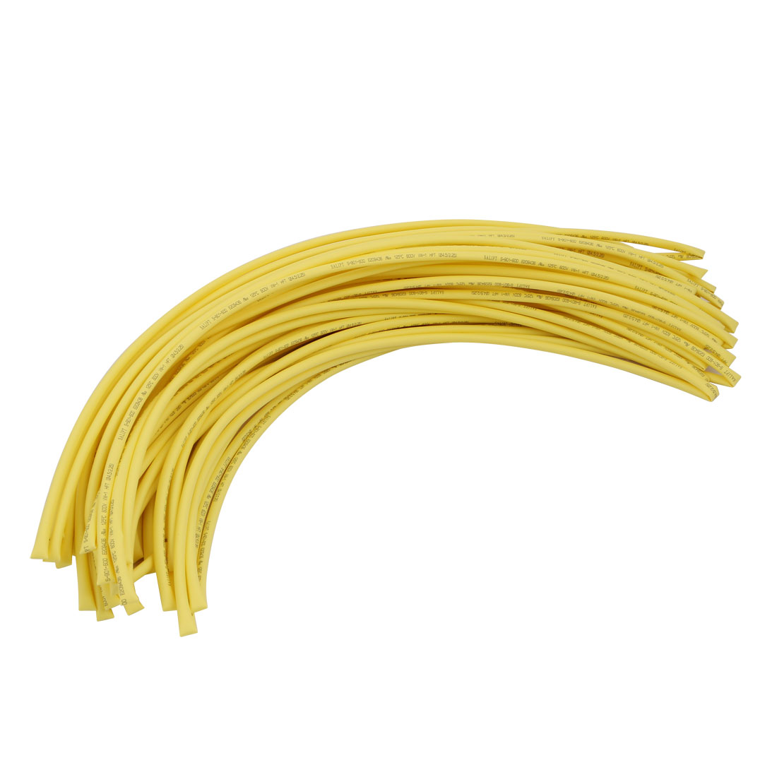 25M 0.18in Inner Dia Polyolefin Flame Retardant Tube Yellow for Wire Repairing