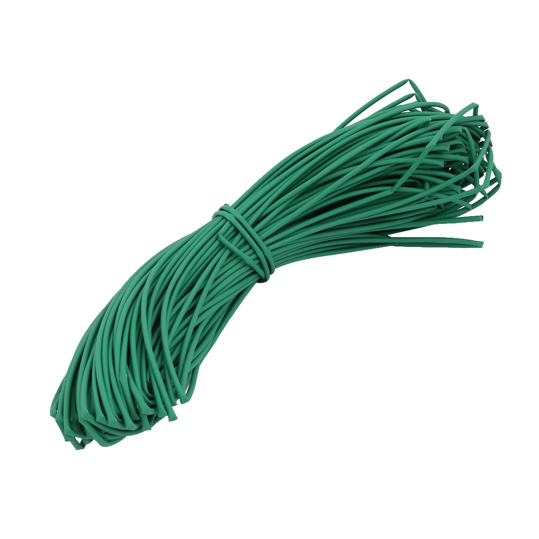 35M 0.06in Inner Dia Polyolefin Flame Retardant Tube Green for Wire Repairing