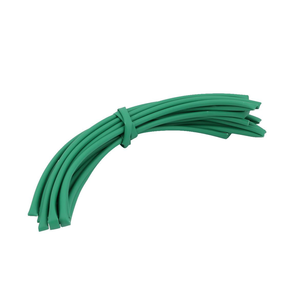 5M 0.18in Inner Dia Polyolefin Flame Retardant Tube Green for Wire Repairing