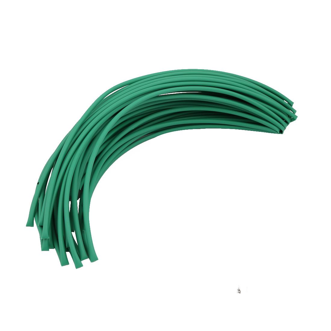 20M 0.18in Inner Dia Polyolefin Flame Retardant Tube Green for Wire Repairing