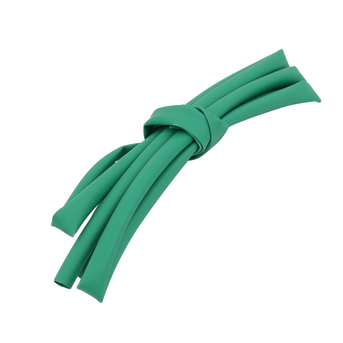 1M 0.2in Inner Dia Polyolefin Flame Retardant Tube Green for Wire Repairing