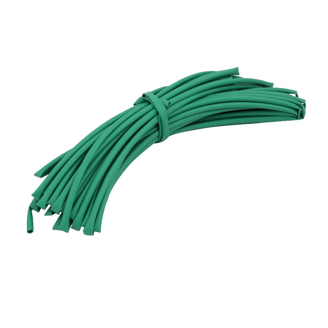 15M 0.2in Inner Dia Polyolefin Flame Retardant Tube Green for Wire Repairing