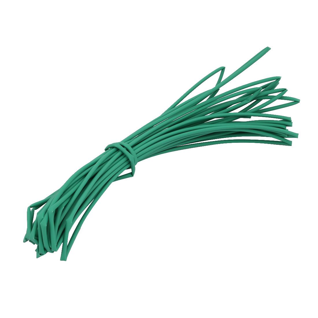 8M 0.08in Inner Dia Polyolefin Flame Retardant Tube Green for Wire Repairing