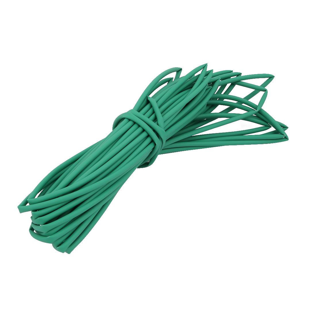 10M 0.08in Inner Dia Polyolefin Flame Retardant Tube Green for Wire Repairing