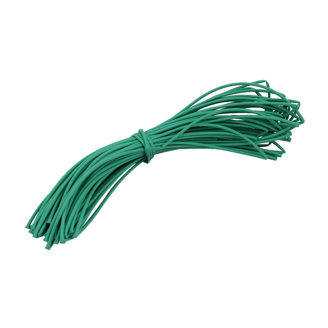 20M 0.08in Inner Dia Polyolefin Flame Retardant Tube Green for Wire Repairing