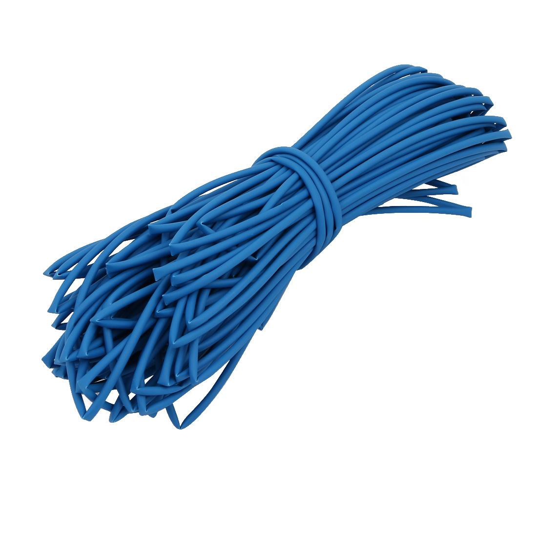 25M 0.08in Inner Dia Polyolefin Flame Retardant Tube Blue for Wire Repairing