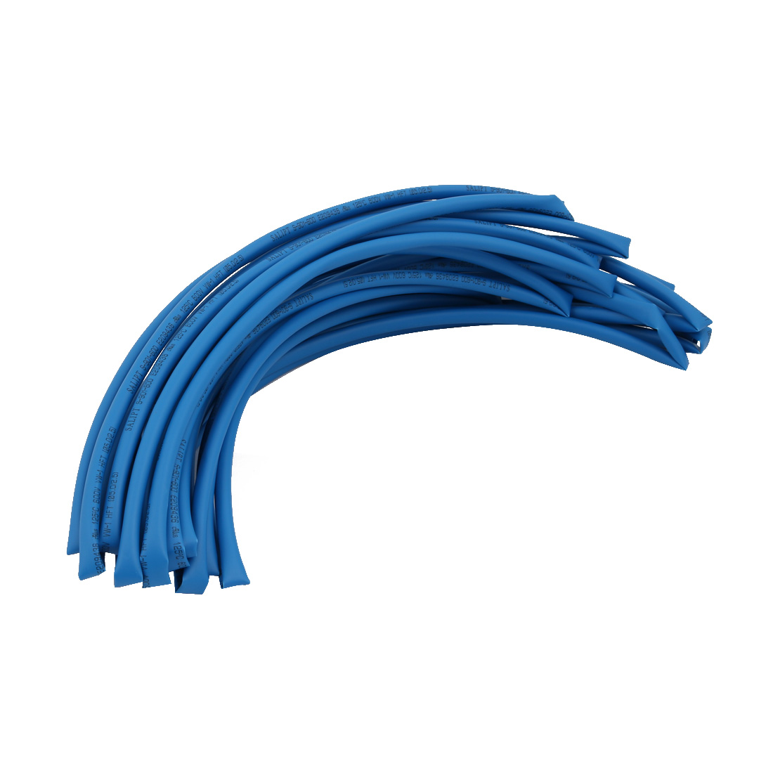 8M 0.2in Inner Dia Polyolefin Flame Retardant Tube Blue for Wire Repairing