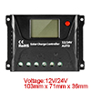 12V/24V 10A PWM Solar Charge Controller Battery Regulator Overload Protection