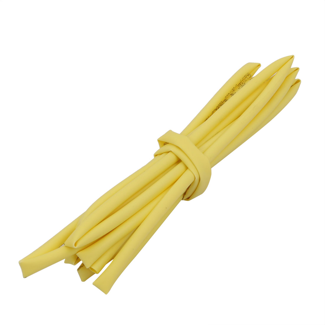 2M 0.12in Inner Dia Polyolefin Flame Retardant Tube Yellow for Wire Repairing