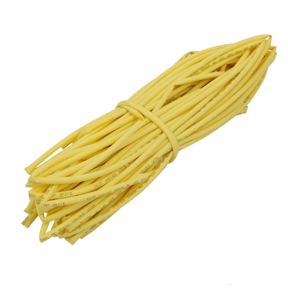 20M 0.12in Inner Dia Polyolefin Flame Retardant Tube Yellow for Wire Repairing