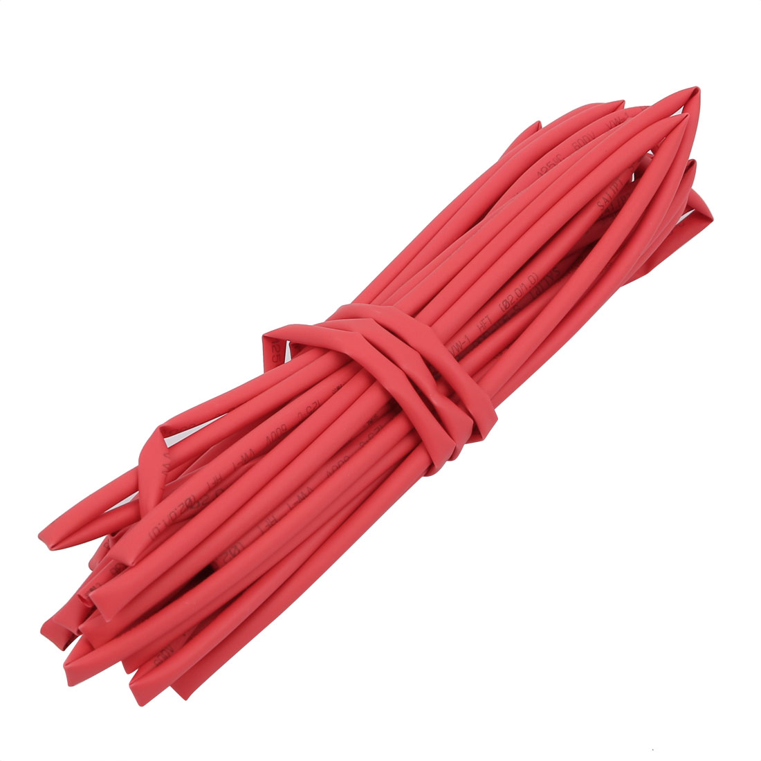5M 0.08in Inner Dia Polyolefin Flame Retardant Tube Red for Wire Repairing