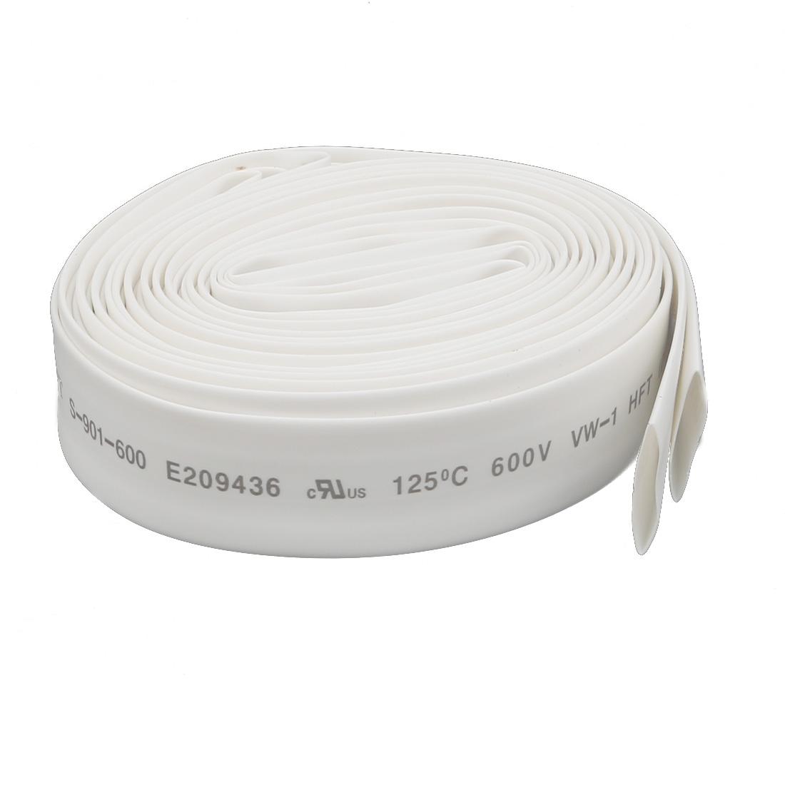 5M 0.47in Inner Dia Polyolefin Flame Retardant Tube White for Wire Repairing