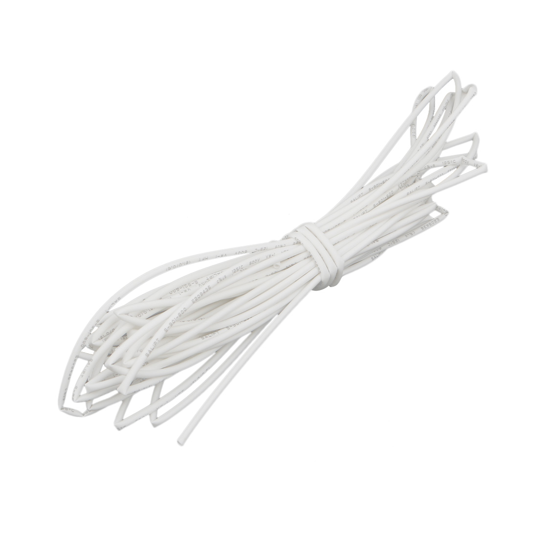 6M 0.04in Inner Dia Polyolefin Flame Retardant Tube White for Wire Repairing