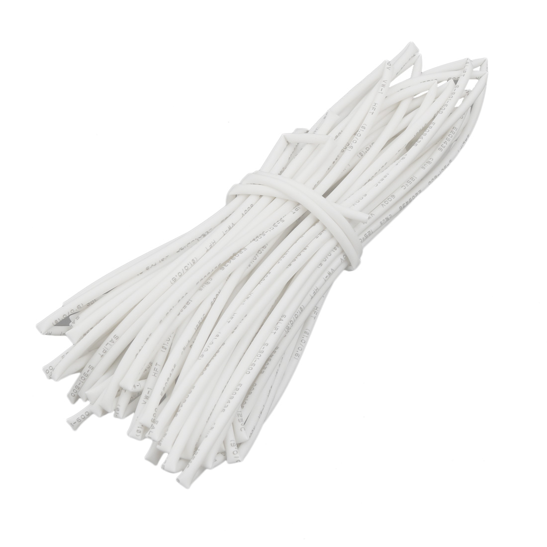 8M 0.04in Inner Dia Polyolefin Flame Retardant Tube White for Wire Repairing