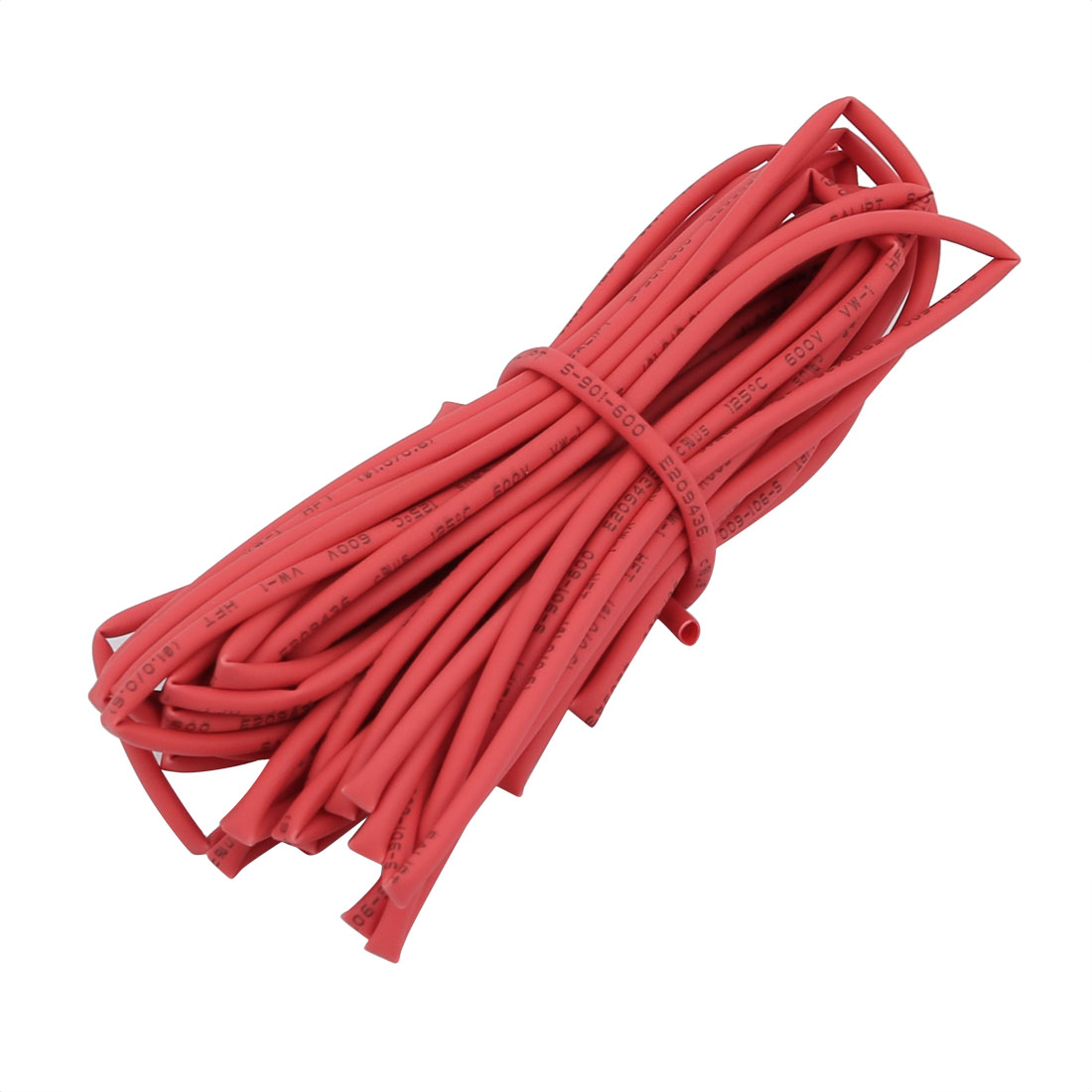 5M 0.04in Inner Dia Polyolefin Flame Retardant Tube Red for Wire Repairing