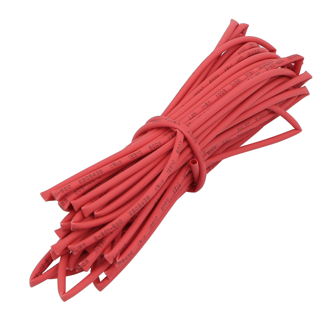 6M 0.04in Inner Dia Polyolefin Flame Retardant Tube Red for Wire Repairing