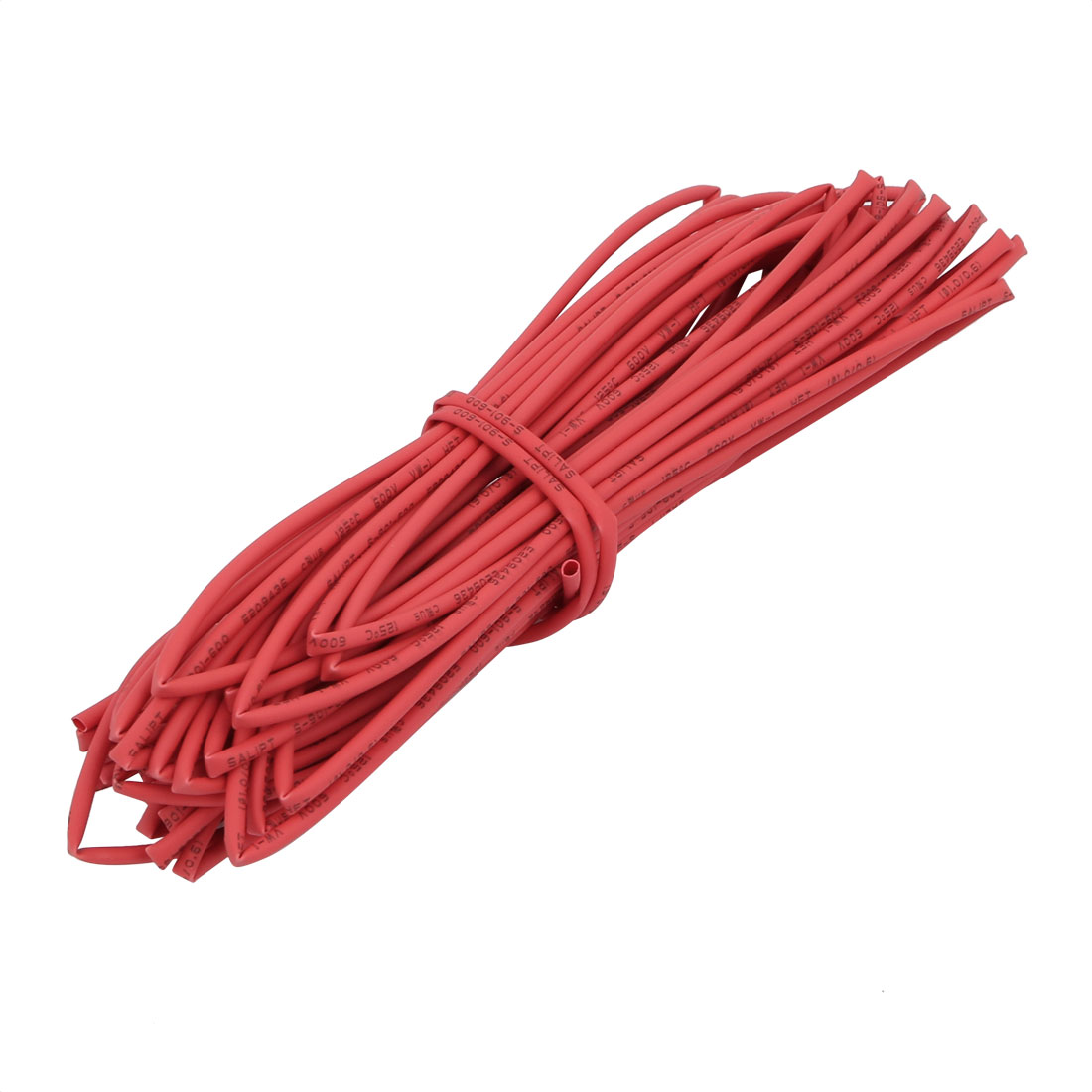 8M 0.04in Inner Dia Polyolefin Flame Retardant Tube Red for Wire Repairing