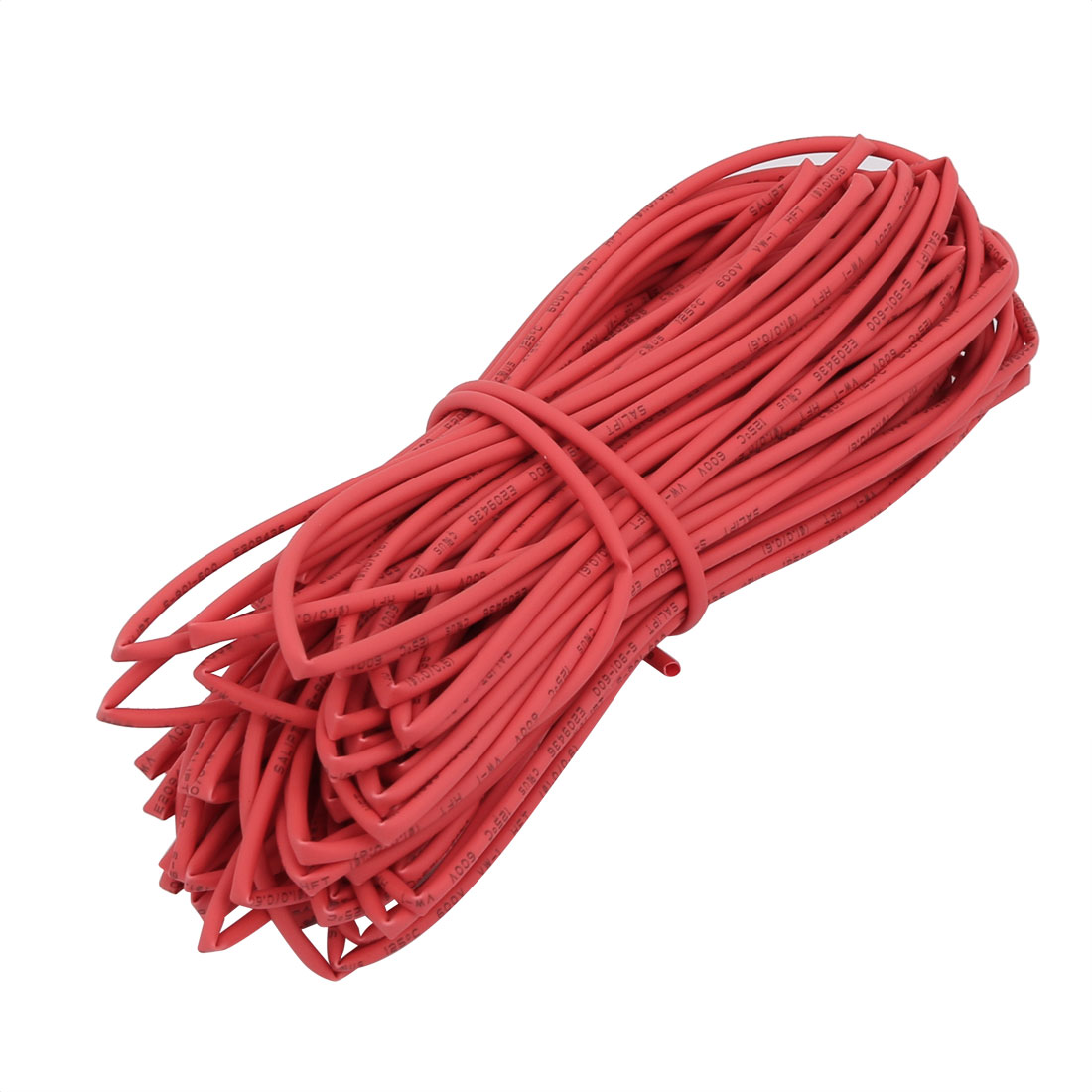 15M 0.04in Inner Dia Polyolefin Flame Retardant Tube Red for Wire Repairing