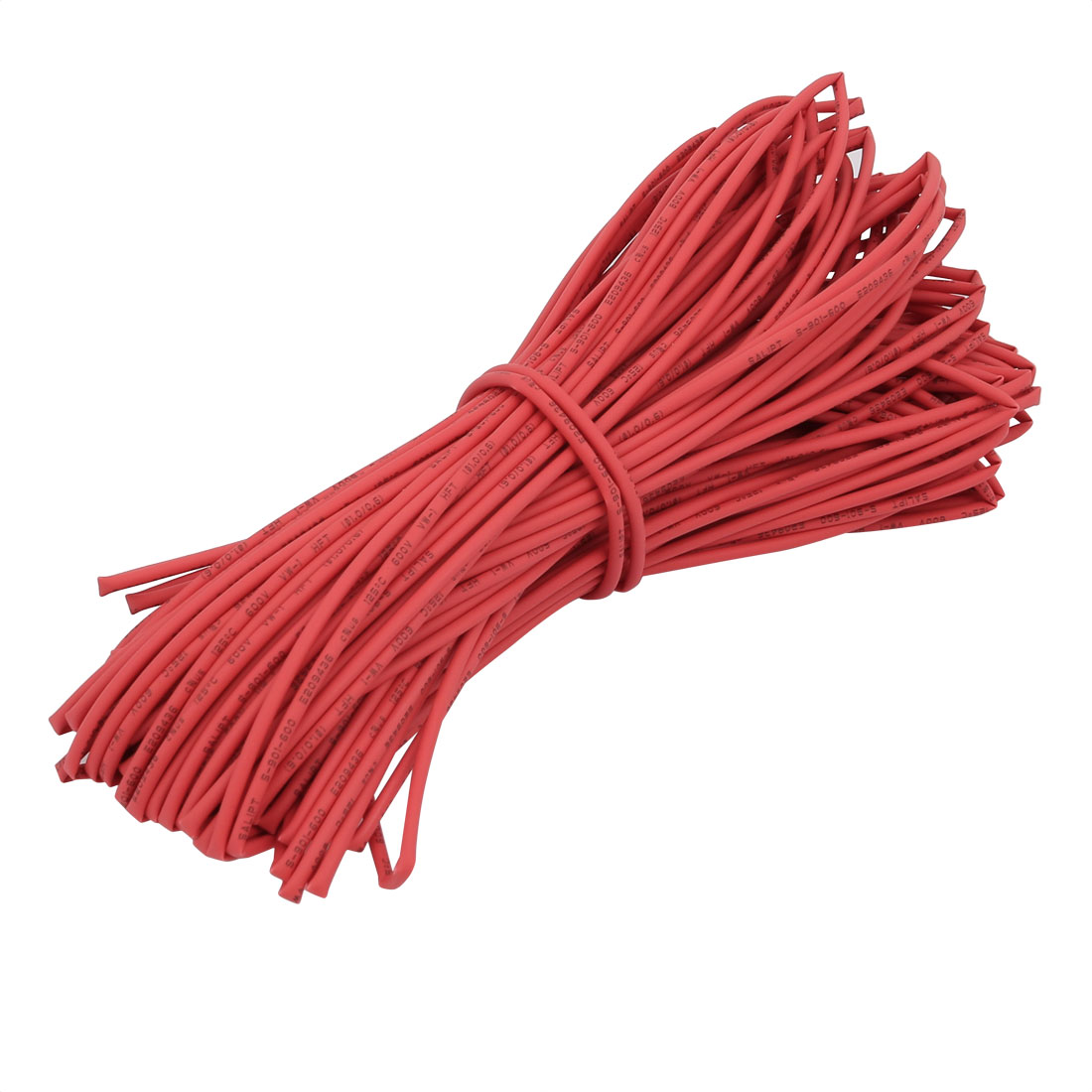 20M 0.04in Inner Dia Polyolefin Flame Retardant Tube Red for Wire Repairing