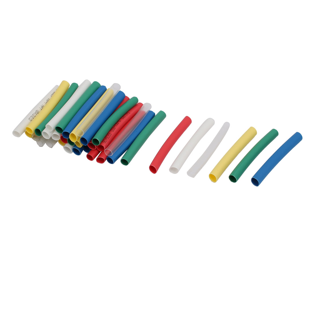 4mmx45mm Multi-Colors Insulated Heat Shrink Tube Sleeving Wrap Wire Kits 42pcs
