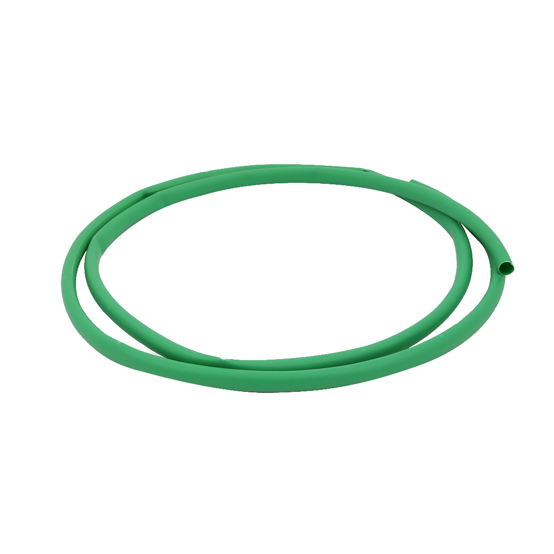 2M 0.37in Inner Dia Polyolefin Flame Retardant Tube Green for Wire Repairing