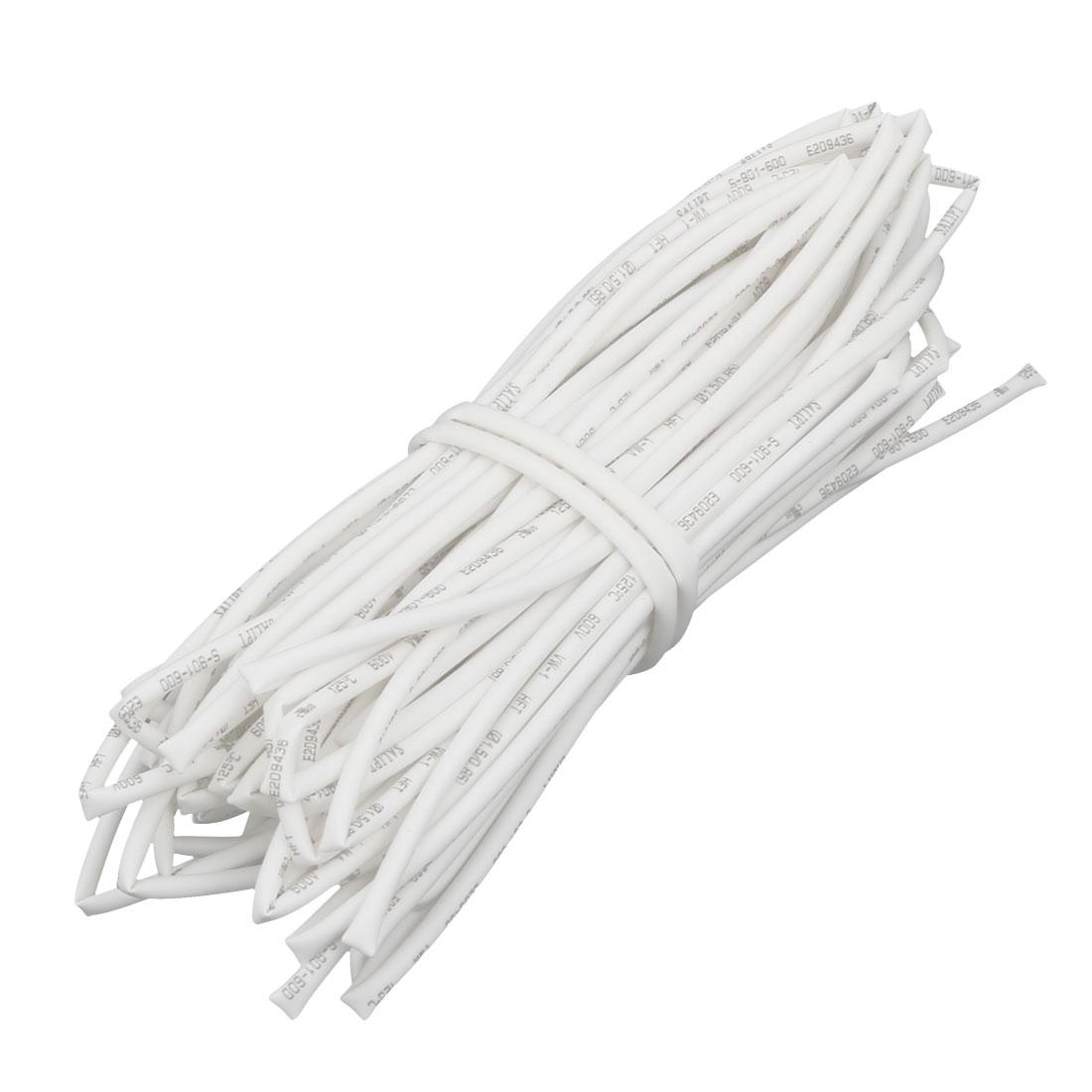 32.8Ft Length 1.5mm Inner Dia Insulated Heat Shrink Tube Sleeve Wire Wrap White