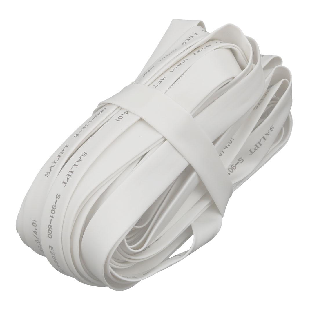 32.8Ft Length 8mm Inner Dia Insulated Heat Shrink Tube Sleeve Wire Wrap White