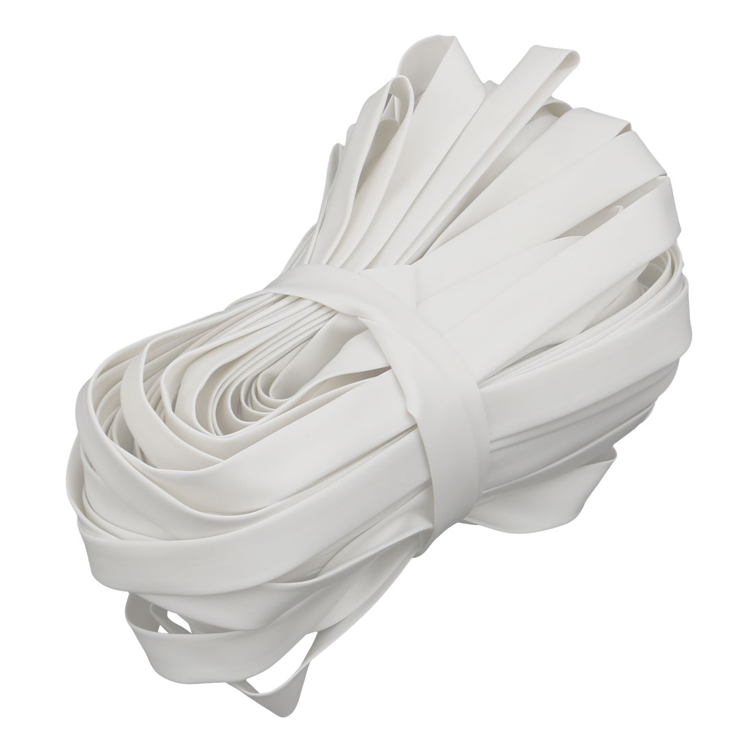 65.6Ft Length 7mm Inner Dia Insulated Heat Shrink Tube Sleeve Wire Wrap White