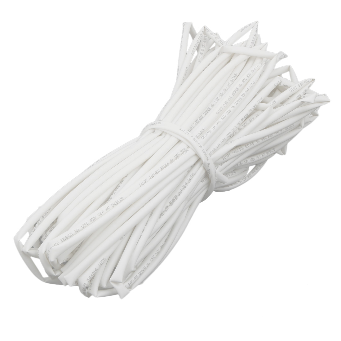 Polyolefin Heat Shrinkable Flame Retardant Tube 30M Long 4.5mm Inner Dia White