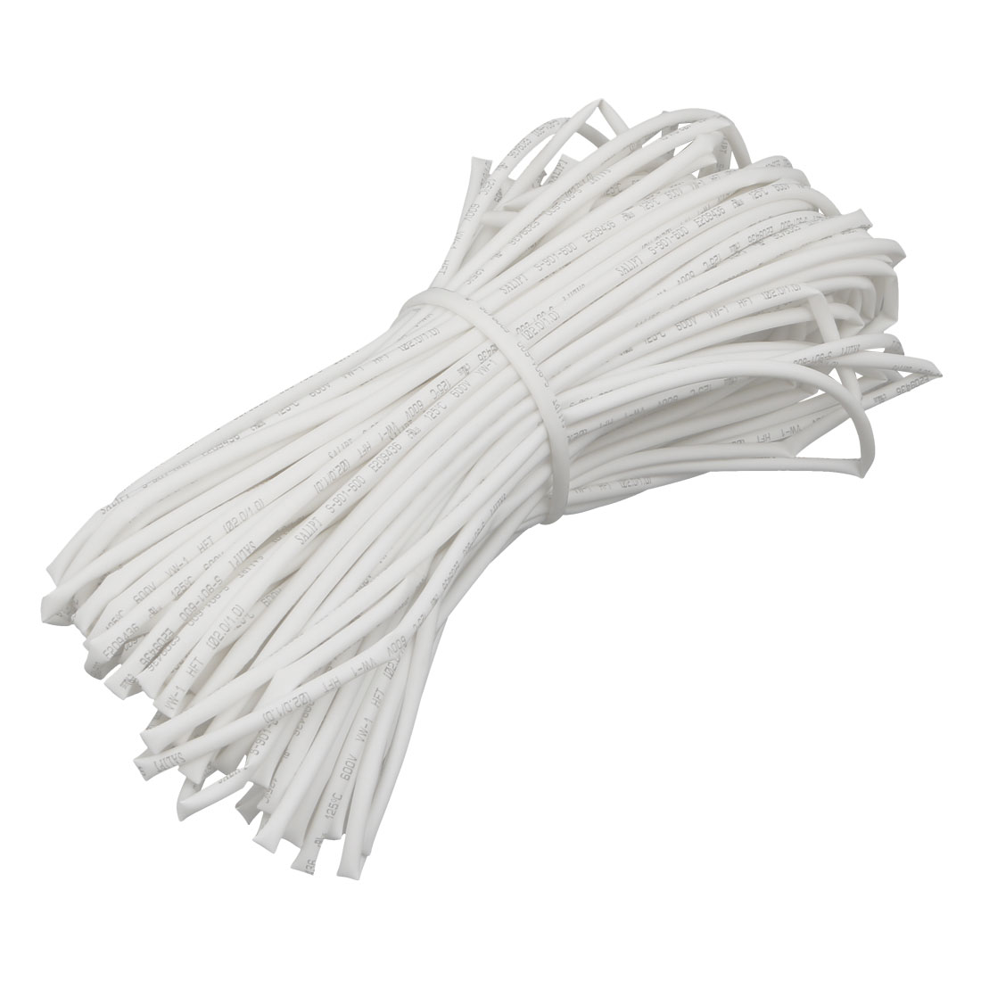 98.4Ft Length 2mm Inner Dia Insulated Heat Shrink Tube Sleeve Wire Wrap White