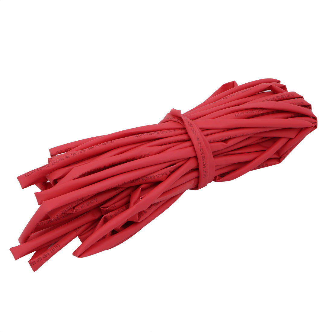 49.2Ft Length 5.5mm Inner Dia Insulated Heat Shrink Tube Sleeve Wire Wrap Red